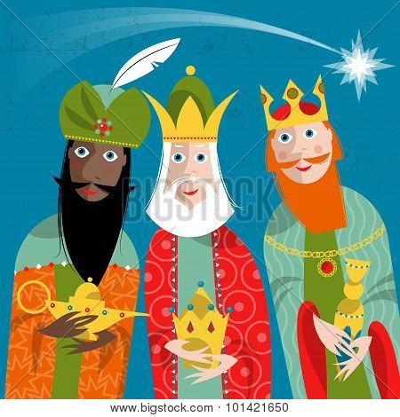 Three Kings. Three Wise Men.