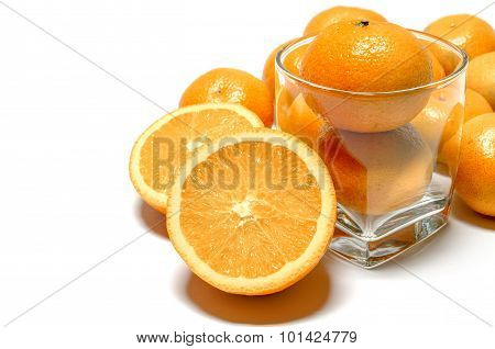 Oranges Whole And Halved