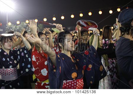 Bon-odori Festival In Shah Alah,  On September 5, 2015.