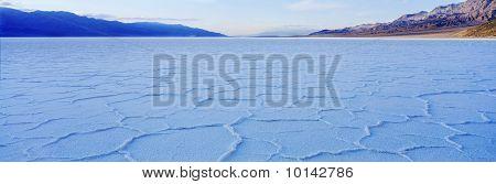 Salt lake in death valley