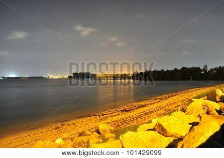 Yishun north coast in the stillness of the night