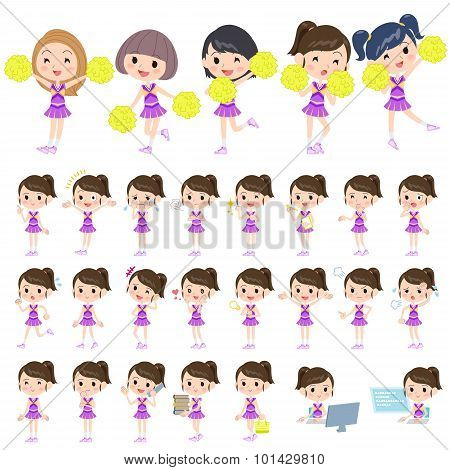 Purple Cheerleader