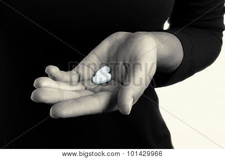 Hand with pills