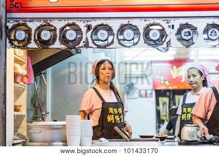 Food Vendors At Bali Left Bank Park In Taiwan