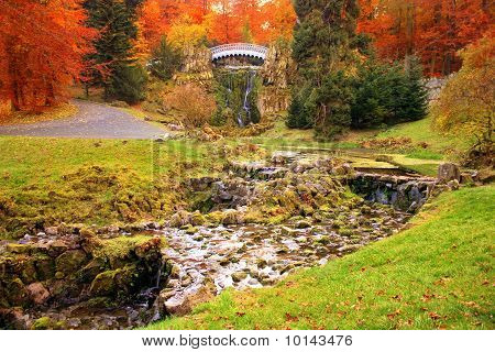 Autumnal Park Wilhelmsh in Kassel, Germany