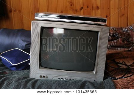 Old Tv And Dvd Player In A Country House