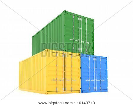 Three Cargo Container