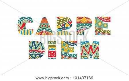 Carpe Diem Ornate Lettering