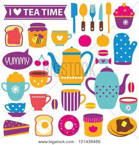 teatime clip art set