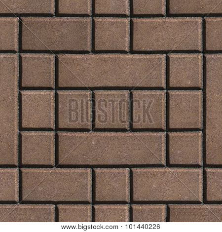 Brown Figured Paving Slabs as Rectangles and Squares.