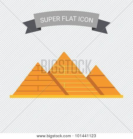 Giza pyramids icon