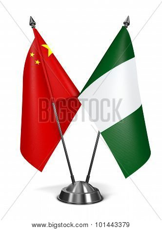 China and Nigeria - Miniature Flags.