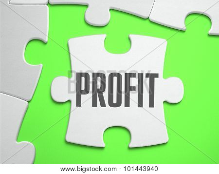 Profit - Jigsaw Puzzle with Missing Pieces.