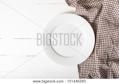 Empty Dish With Kitchen Towel