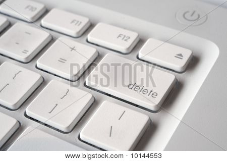 Delete key on keyboard