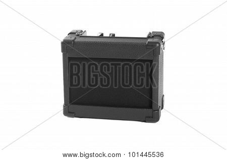 Electric guitar amplifier isolated on white background. Isolate.