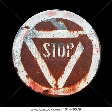 Rundown Stop Sign