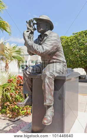 Sculpture Of A Sailor In George Town Of Grand Cayman