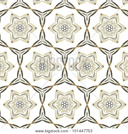 Abstract Geometric Pattern. American Vintage Style.