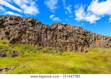 Lava Rock Landscape, Thingvellir National Park, Iceland