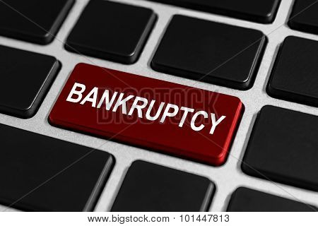 Financial Bankruptcy Button On Keyboard