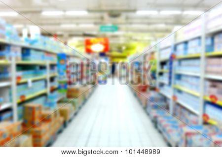 Grocery Supermarket Blurred Defocused