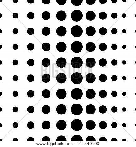 Dotted Pattern. Vertically Seamless. Dots, Halftone Background.