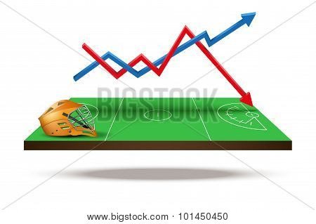Concept of statistics about the game lacrosse