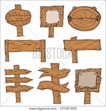Wooden Signpos