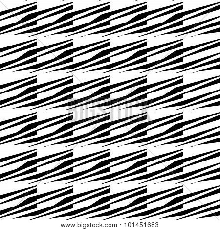 Edgy Abstract Pattern With Lines, Stripes. Repeatable Abstract Vector.