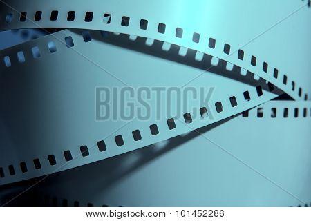 Three Strips Of Negative Films.