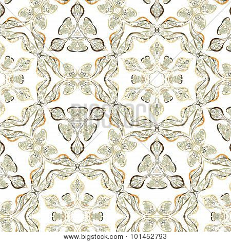 Primitive simple retro seamless pattern