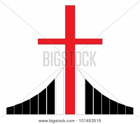Cross at the Golgotha Christian Symbol
