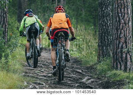 two mountainbiker