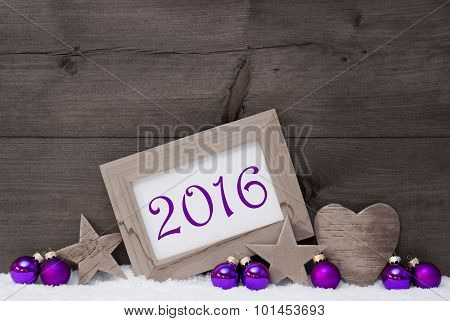 Gray Purple Christmas Decoration Text 2016