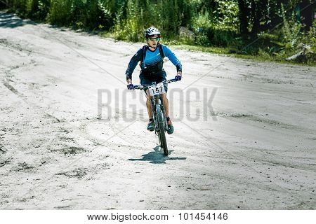 mountainbiker during race