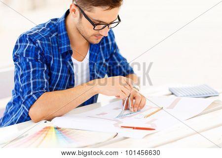 Freelancer involved in work