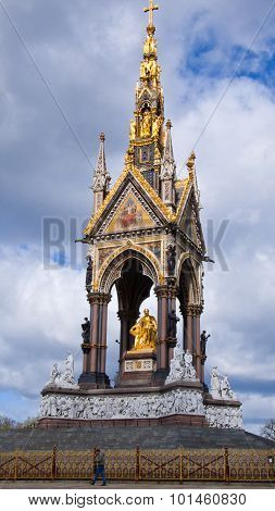 The Albert Memorial In Kensington Gardens. London. United Kingdom.