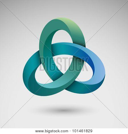 Torus knot, eps10 vector