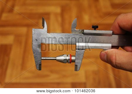 Nozzle On The Compressor Measurement Vernier Caliper