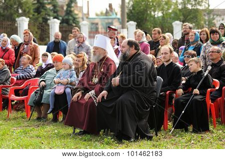 Orel, Russia - September 13, 2015: Orthodox Church Family Day. Metropolitans Antony And Alexander Si