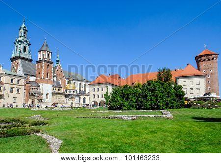 Wawel Castle Square In Krakow