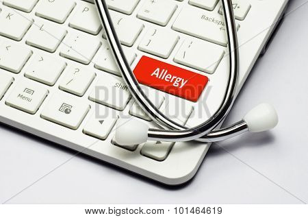 Keyboard, Allergy Text And Stethoscope