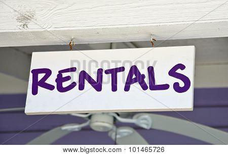 Rentals Sign