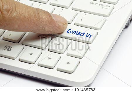 Contact Us Button - Business Concept