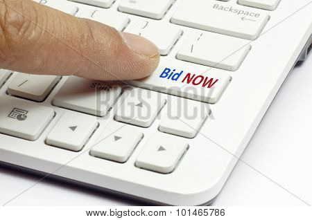 Bid Now Button - Business Concept