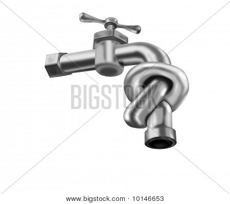 Water Tap Knot Isolated Faucet Valve