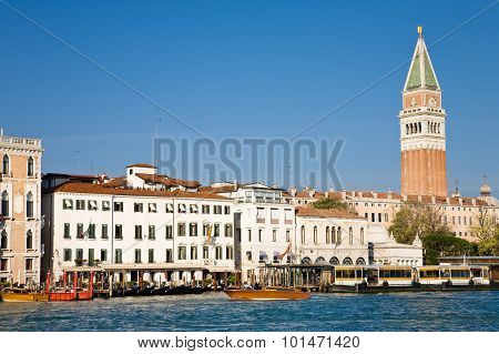 Grand Canal And Bell Tower
