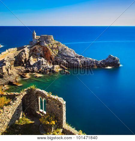 Portovenere, San Pietro Church. Cinque Terre, Liguria Italy