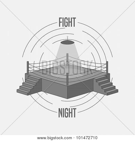 Boxing Ring vector Logo
